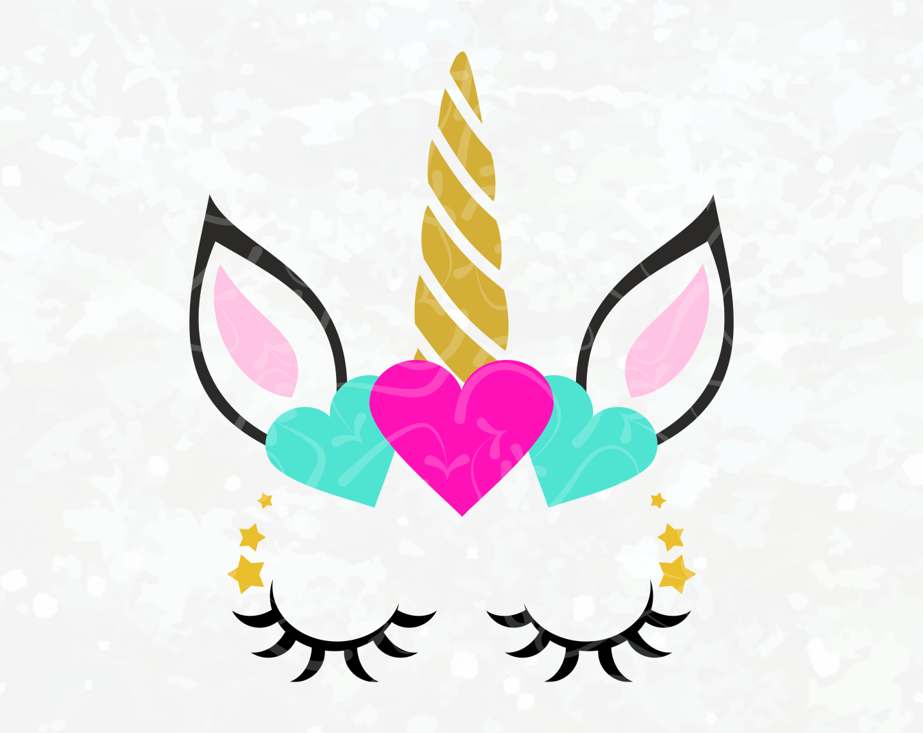 Unicorn SVG - Unicorn Face SVG - Unicorn Head Iron on