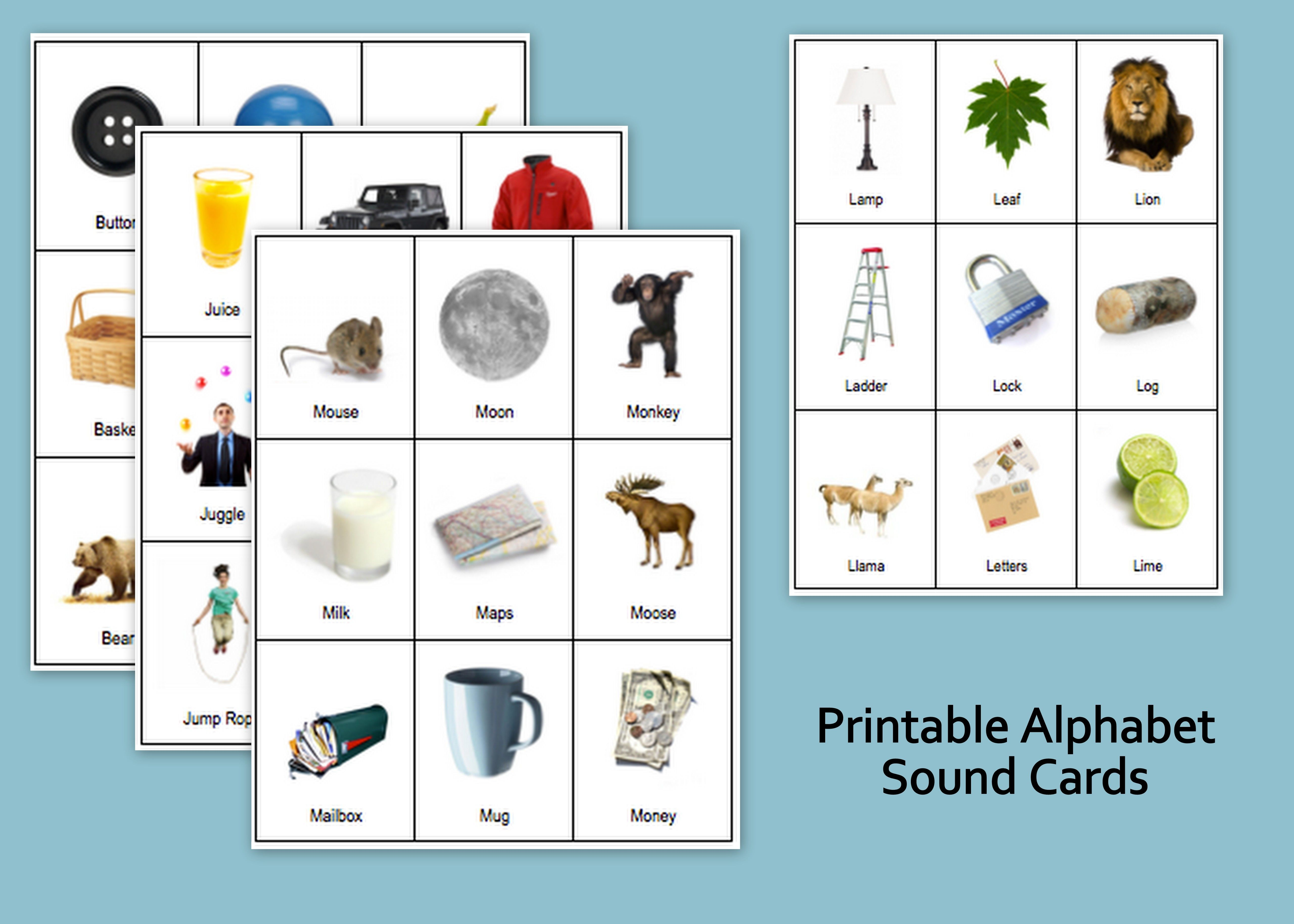 Printable: Alphabet Sound Cards | Language | Pinterest | Alphabet ...