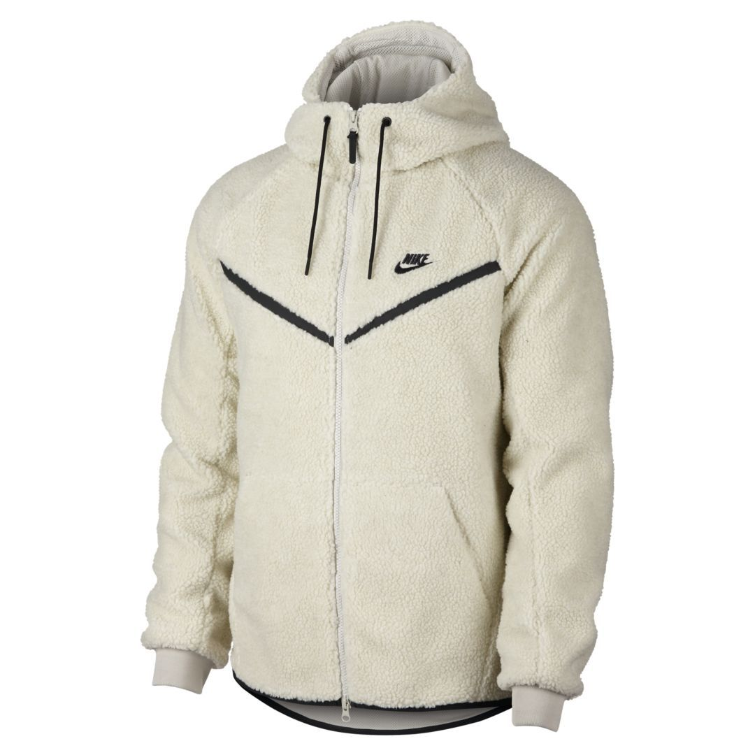 Nike Sportswear Windrunner Tech Fleece Men s Sherpa Hoodie Size 2XL (Light  Bone) b8652c541