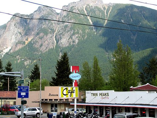 Twin Peaks aka North Bend, Washington by T.D. Ford (Grundlepuck), via Flickr