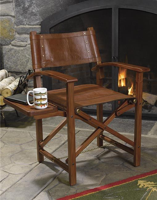 Just Found This Wooden And Leather Directors Chair Mahogany And