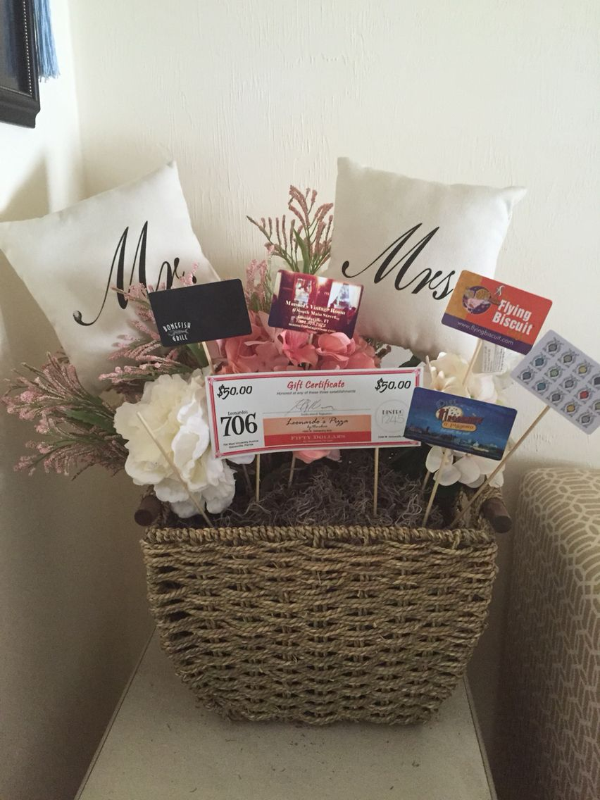 Gift Card Bridal Shower Basket Bridal Shower Gift Baskets Bridal Shower Gifts For Bride Funny Bridal Shower