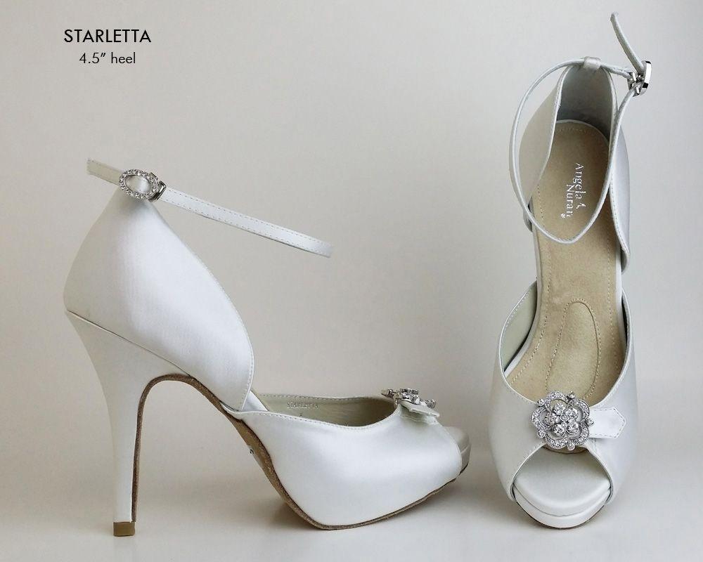 Angela Nuran Starletta Dyeable Wedding Shoes Bridal Shoes Wedding Shoes