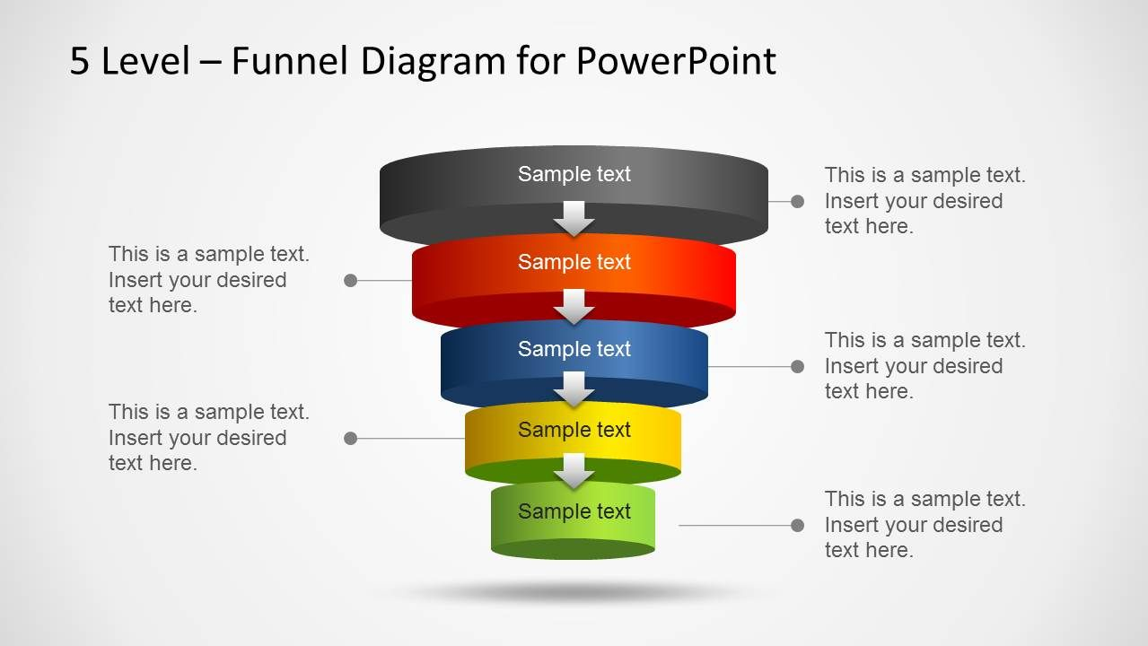 Powerpoint Funnel Template Powerpoint Template Pinterest