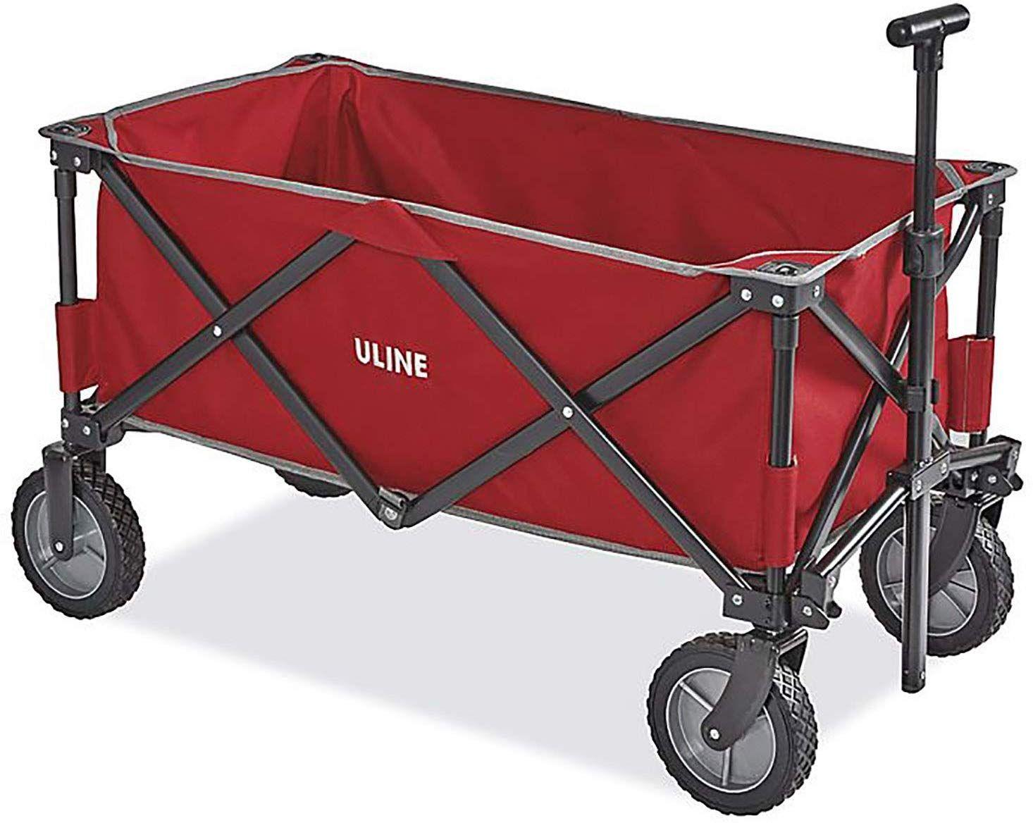 ULINE Utility Wagon, Red Utility wagon, Wagon, Camping