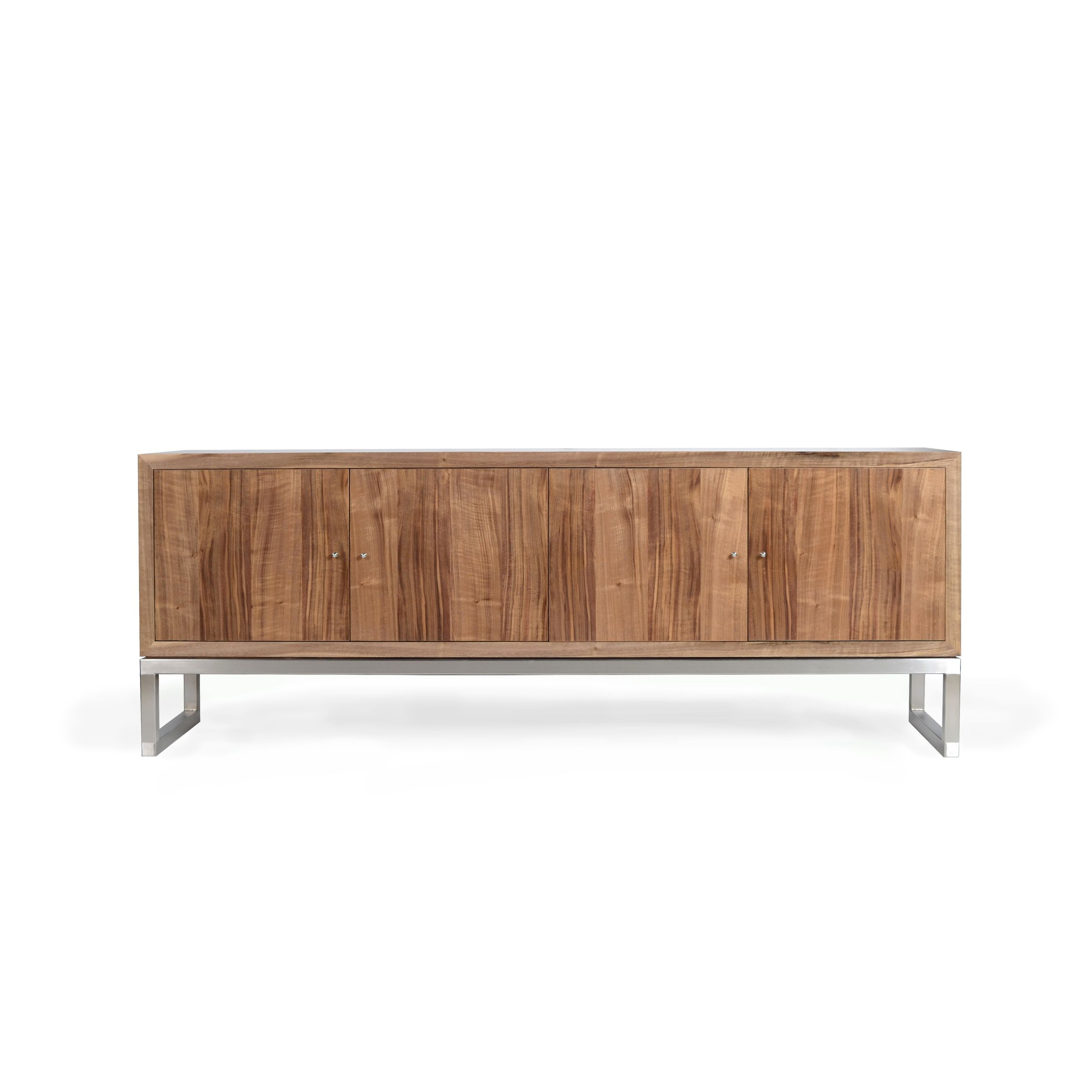 Horizon Sideboard Is Shown With A Satin Polished Stainless Steel