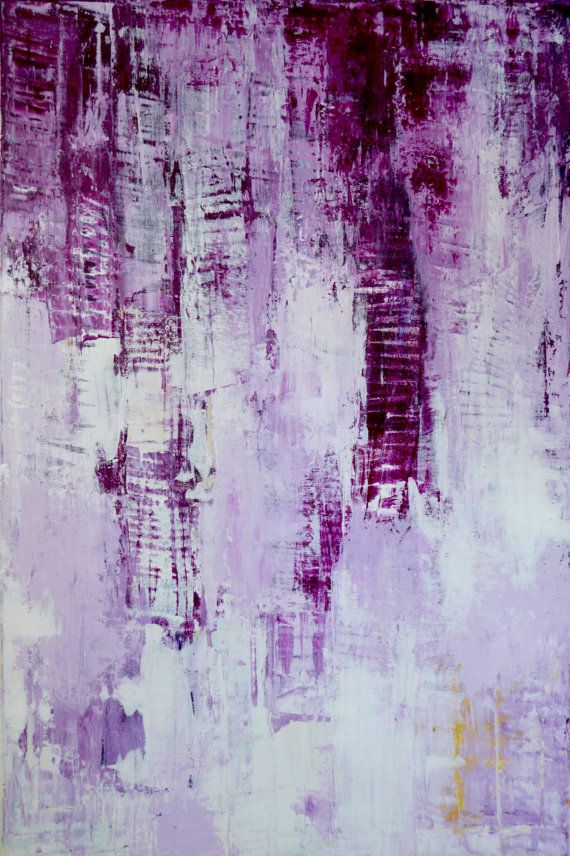 Large original abstract painting purple painting for Textured abstract art techniques