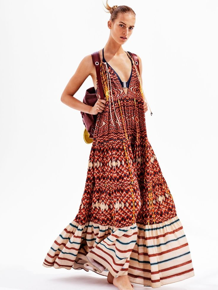 11c59bbd87ab H M embraces maxi dresses for its spring 2016 Studio collection