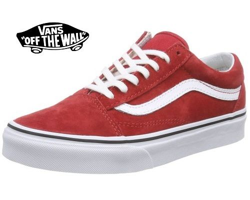 zapatillas vans mujer rojas