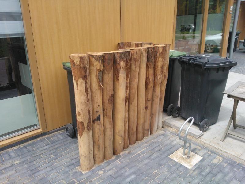 Houten Palen Tuin : Houthandel van dal houten tuinhuis douglas en eiken hout