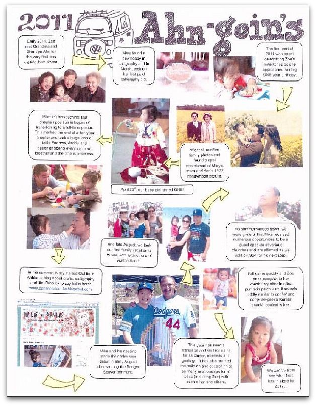 Cool Family Newsletter Maybe The Format Of Our Next Christmas