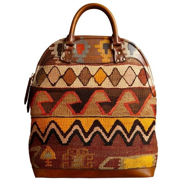 Burberry The Bloomsbury in Hand-painted Leather and Rug Bag