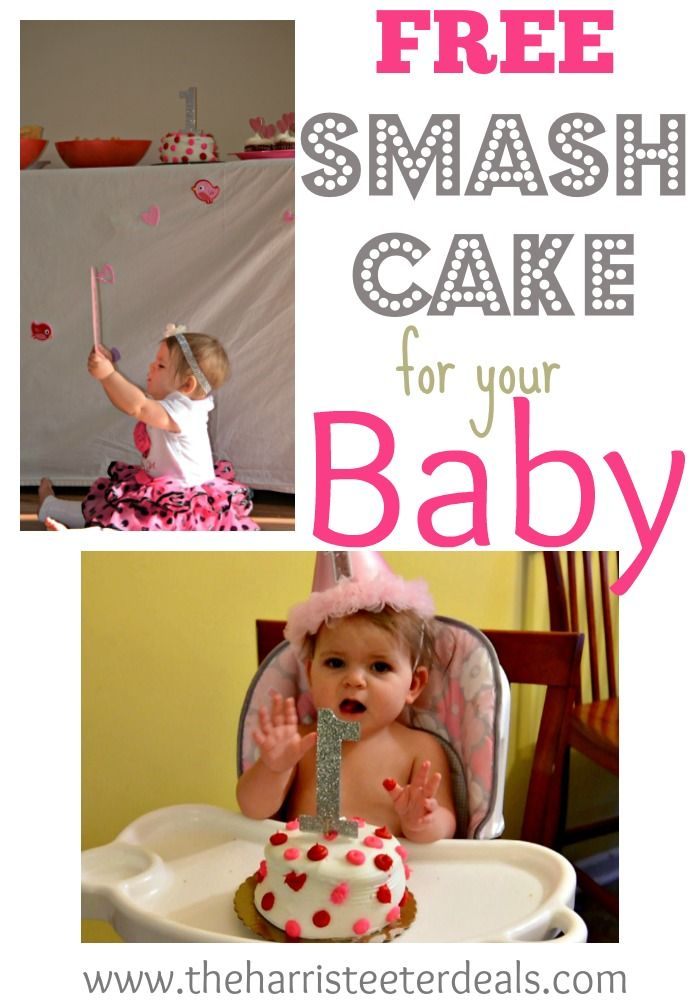 FREE Smash Cake for your Baby Thanks Harris Teeter Smash cakes
