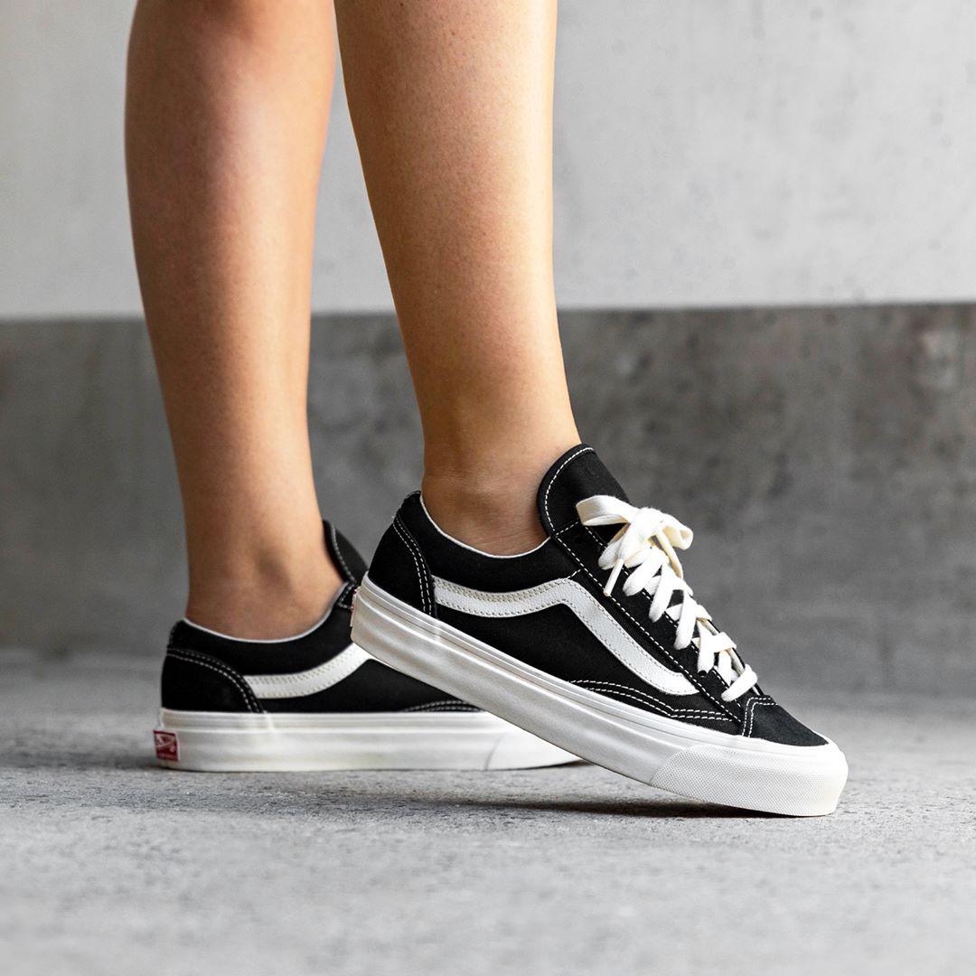 Vans Og Style 36 Lx Herrenschuh Schwarz Weiss Vans Sneakers Vans Schwarz Neue Sneaker