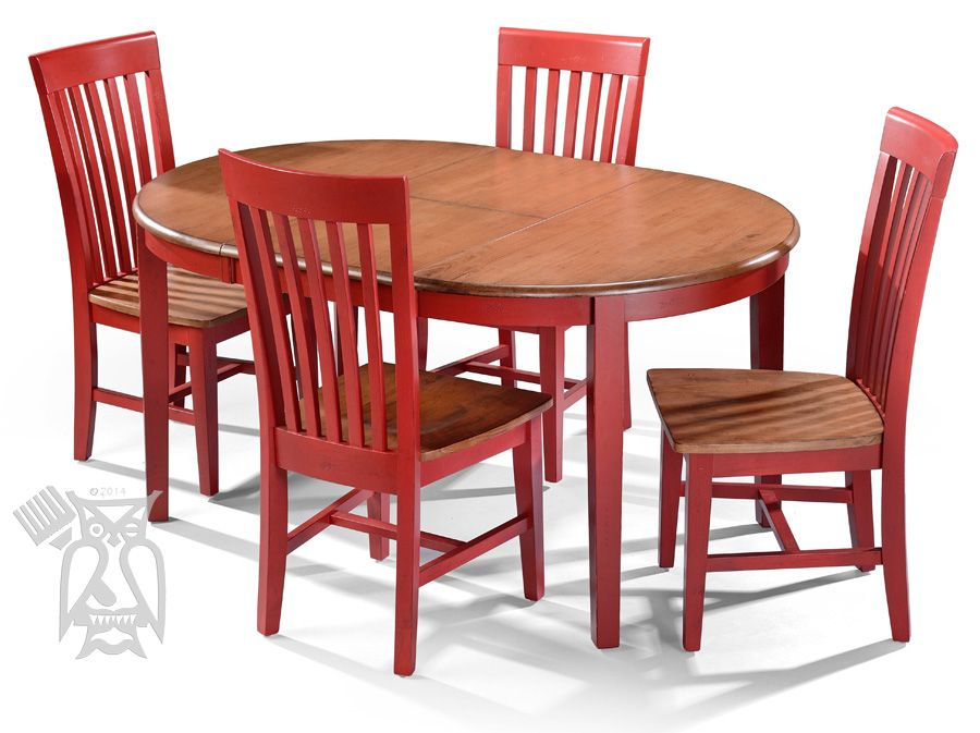 Personalize this Solid Parawood Wood Round Table & Chair Set in Custom Finish Autumn & Farmhouse ...