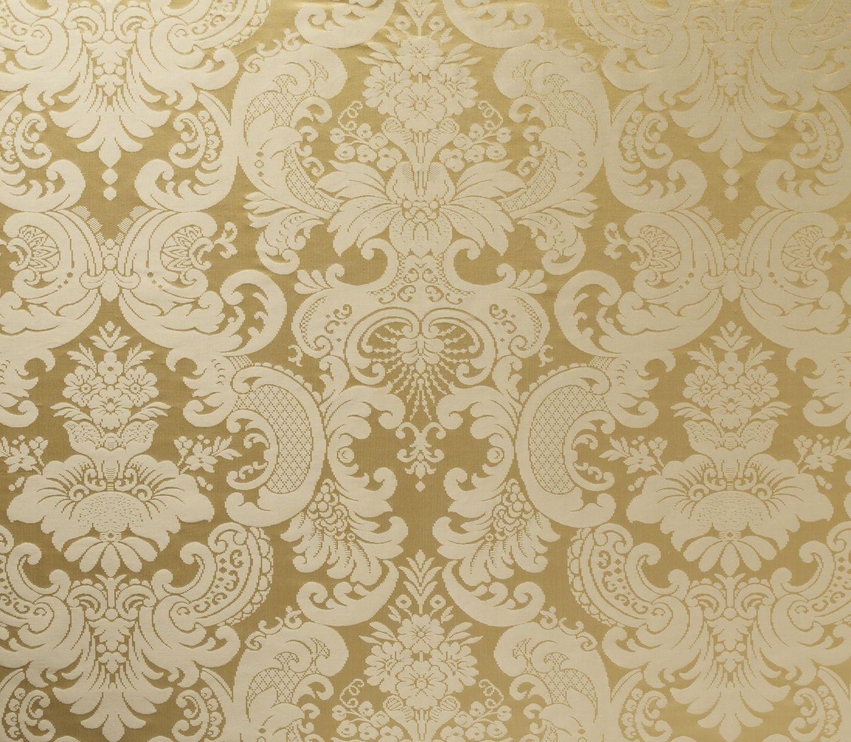 demasl=k fabric gold and white Damask vittorio gold