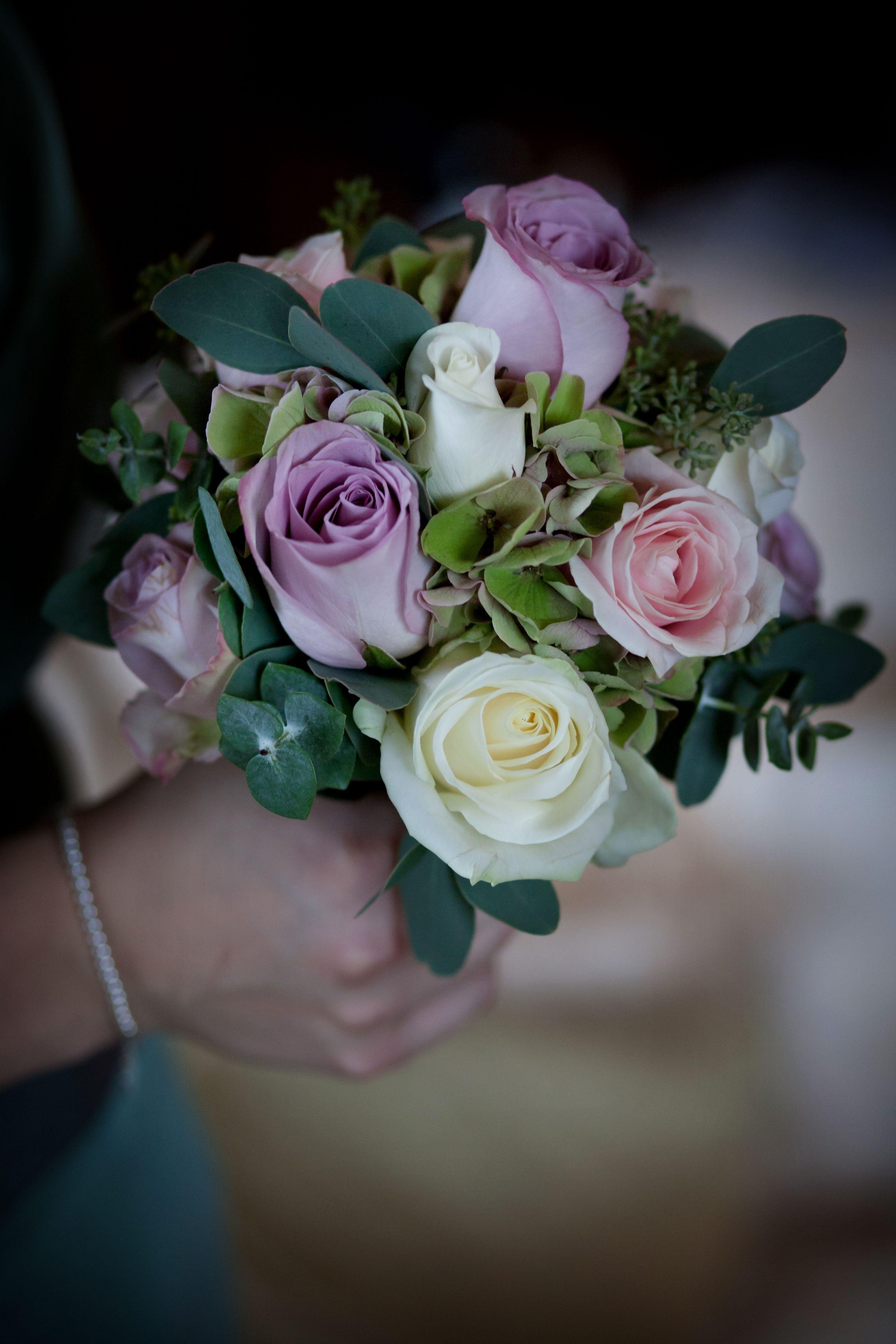 Purple white bridesmaids bouquet tudor rose floristry at purple white bridesmaids bouquet izmirmasajfo