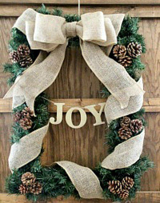 Rustic Christmas Craft Ideas Part - 38: Rustic Christmas Craft Ideas. Rustic Crafts Using Burlap, Jute, Rusty Tin  Accents And