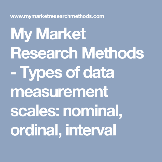 measurement scales used in research