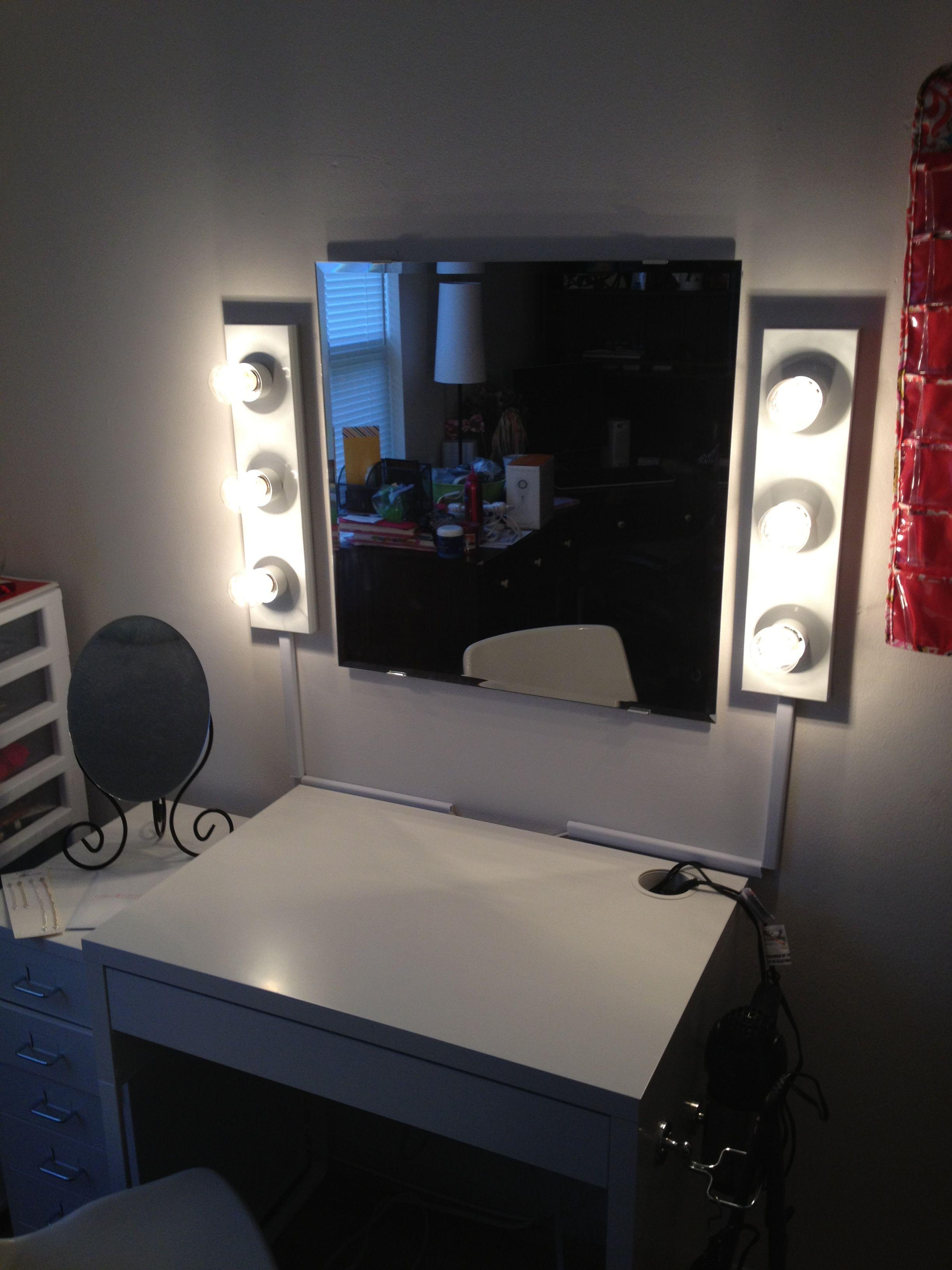 Turn bathroom vanity lights into makeup table lights with simple ...