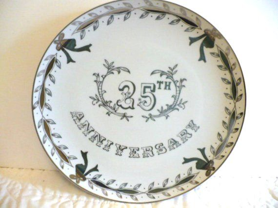 Silver Wedding Anniversary Gifts For Parents: 25th Silver Anniversary Gift For Parents, Silver Plate