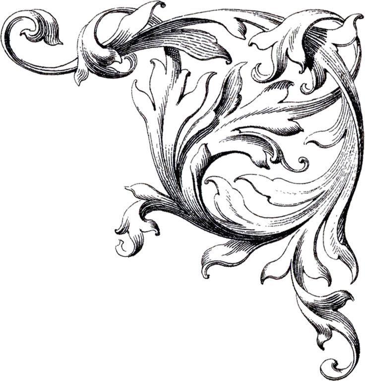 8ia6bbbia jpg 736 769 ornamentation pinterest rh pinterest com free download wedding scroll clipart Wedding Scroll Border