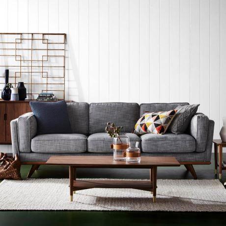 Remarkable Dahlia 3 Seat Fabric Sofa In 2019 Grey Sofa Decor Dining Theyellowbook Wood Chair Design Ideas Theyellowbookinfo