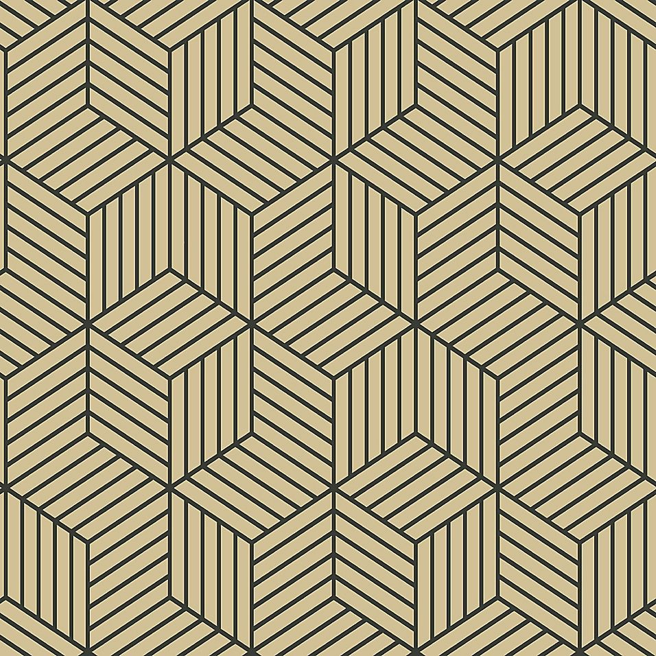 Roommates Striped Hexagon Peel And Stick Wallpaper In White Gold Bed Bath Beyond Wallpaper Roll Peel And Stick Wallpaper Vinyl Wallpaper