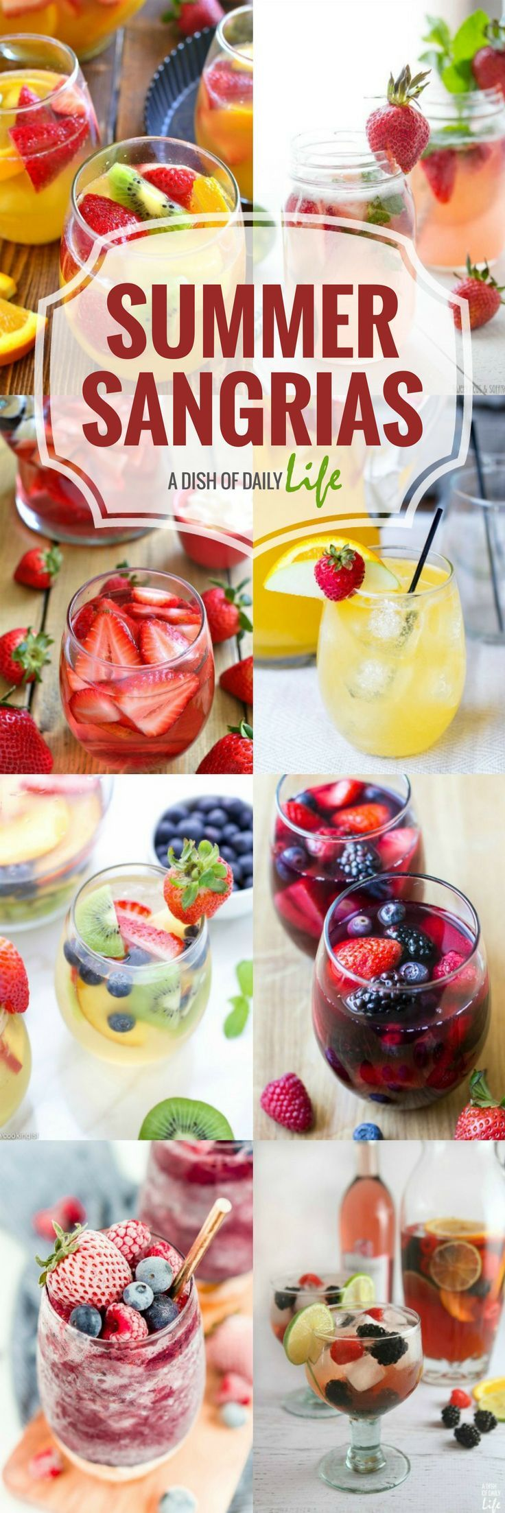 Best Sangria Recipes for Summer #summeralcoholicdrinks