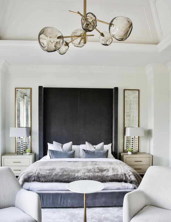 Blue white interiors stunning home in pinterest bedroom and house also rh