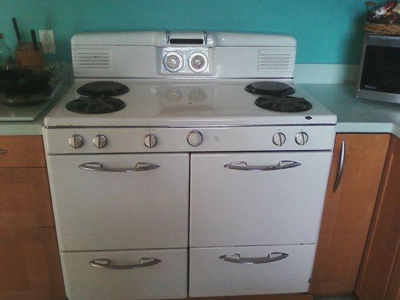 Vintage 1950 S Western Stove Company 4 Burner By Imagivintage 350 00 Vintage Stoves Double Oven Gas Range