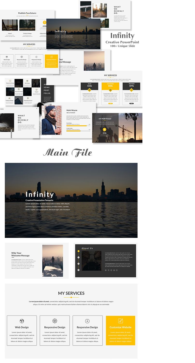 """Check out my @Behance project: """"Infinity Creative Google Slide ..."""
