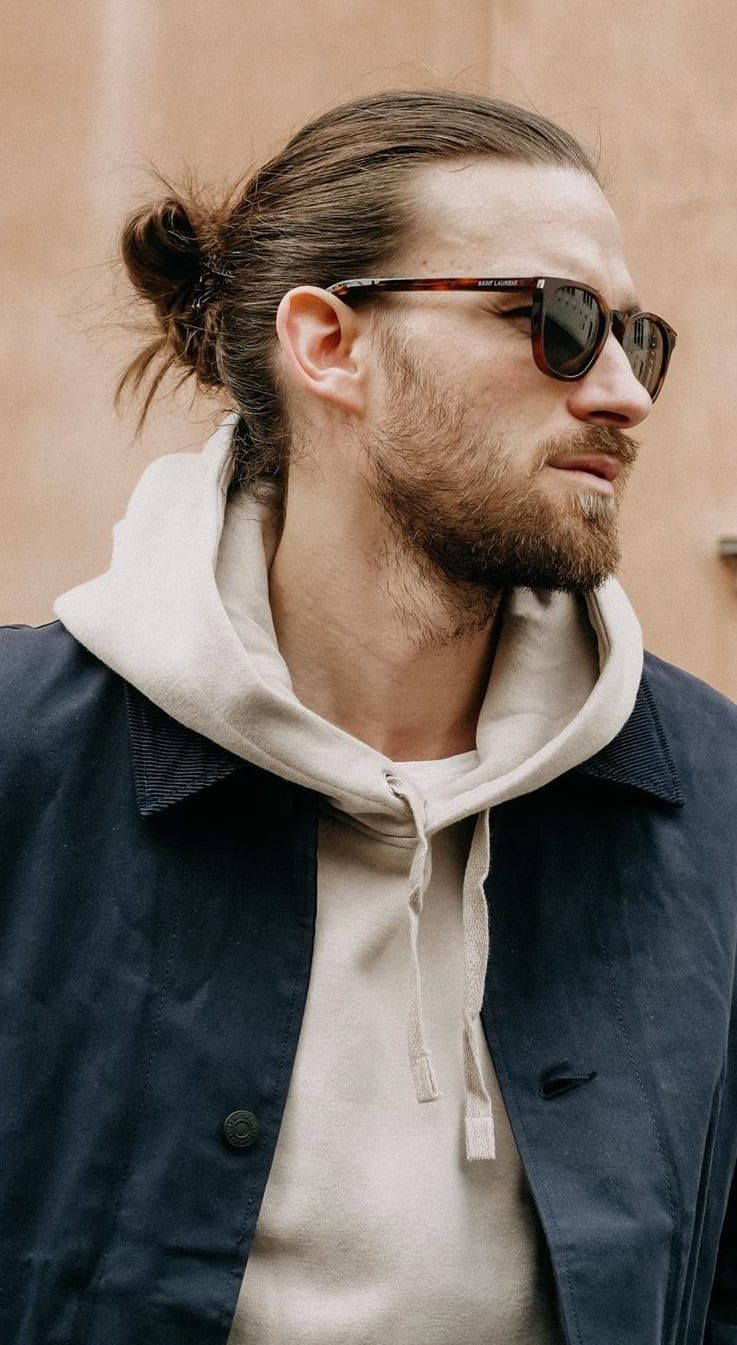 14 hottest man bun hairstyles for bearded men in 2020