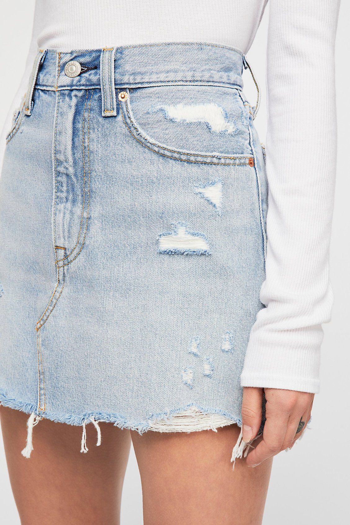 cae505733d Levi's Deconstructed Denim Skirt in 2019 | Denim | Denim skirt ...