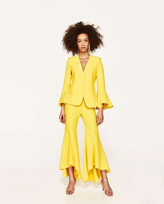 nuovo prodotto ff135 59418 PANTALÓN FLARE ASIMÉTRICO | Pants | Pantaloni, Vestiti e ...