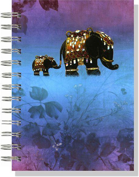 Two Elephants (A6) : Journals at Sarah Warren Art