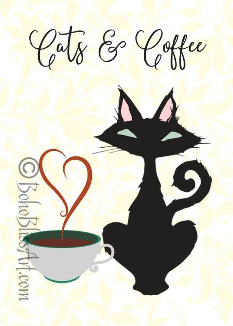 Cats & Coffee | Cat Quote Wall Art | Cat Home Decor | Coffee Lover Wall Decor | Cat Lover Art Print | Instant Download #CatQuotes #CoffeeQuotes #CatArt #CoffeeArt #CatPrint #CoffeePrint #CatDecor #CoffeeDecor #CatWallArt #CatWallDecor #CoffeeWallArt #CoffeeWallDecor