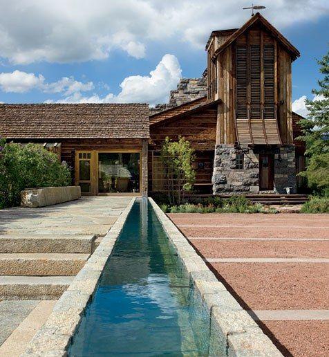 Rustic Exterior, Ranch House Designs