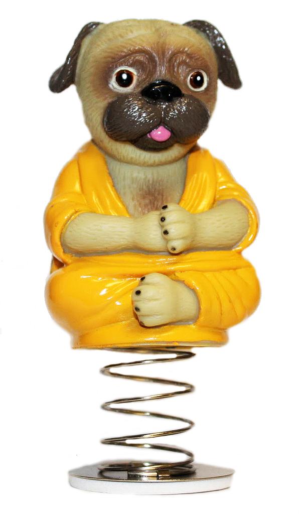 26362c639a9 Buddha Pug Dog Bobble Head Dashboard Nodder
