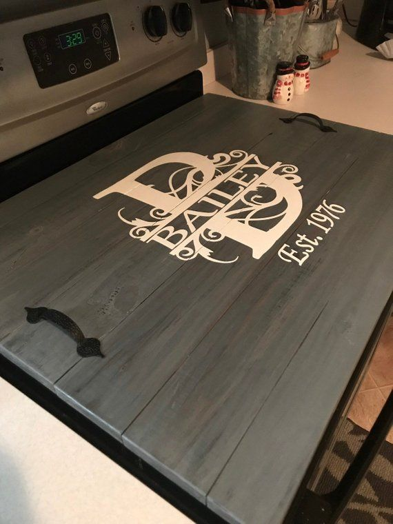 Rustic Farmhouse Custom Wood Stove Top Cover Tray. Custom