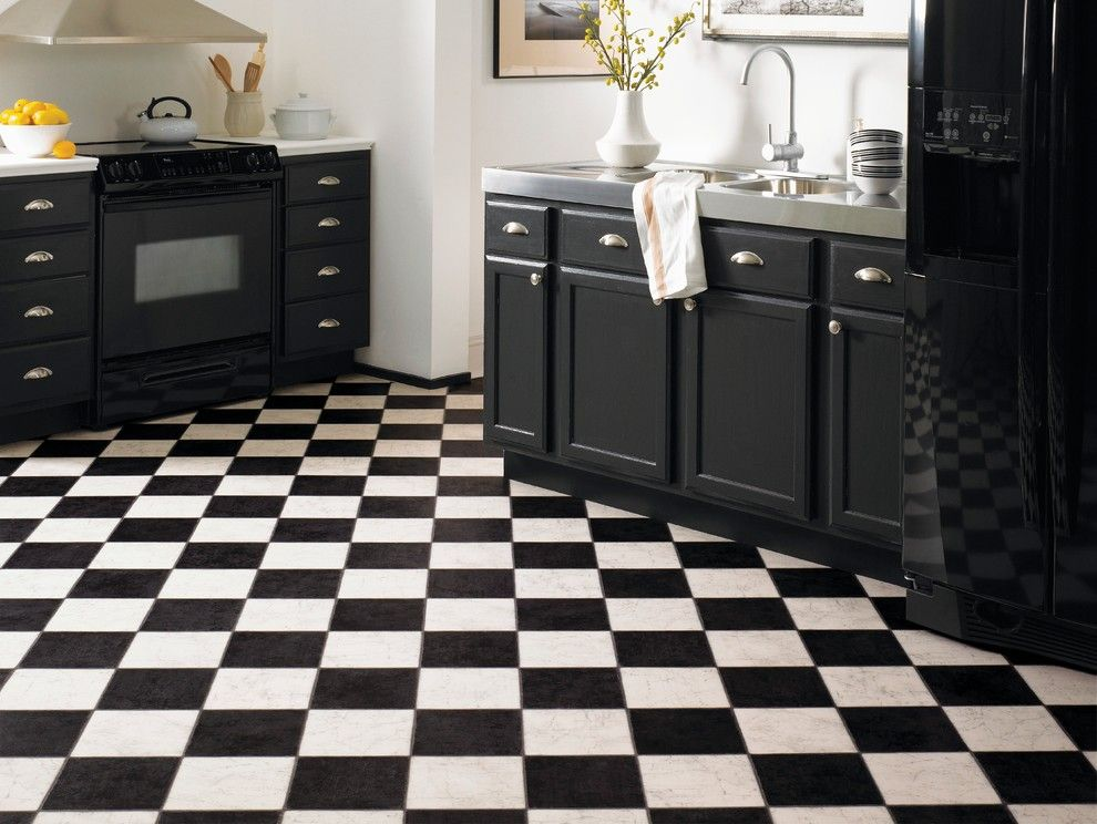 Black And White Kitchen Floor slate bathroom tile kitchen traditional with black and white
