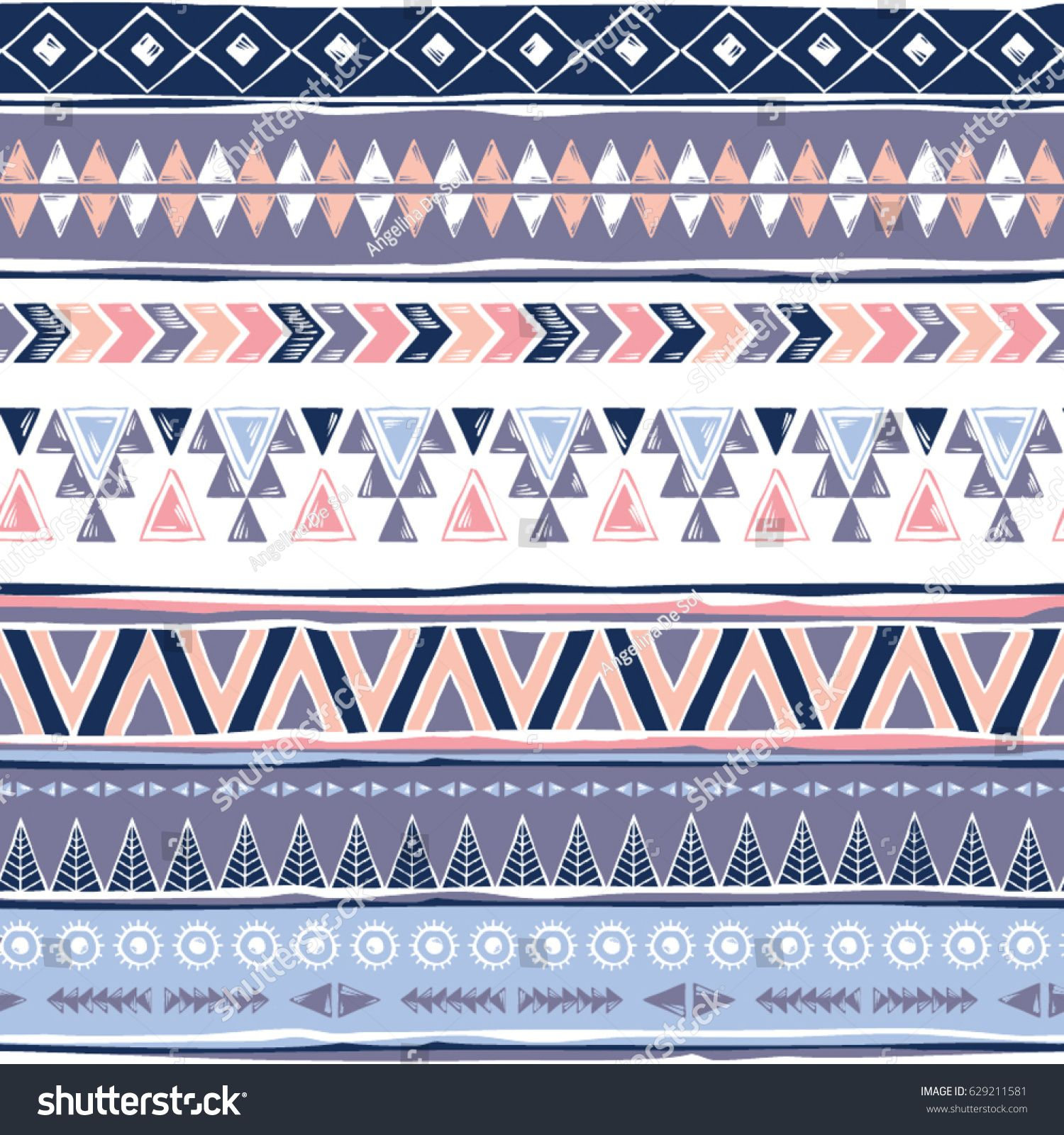 Tribal 8x10 FT Photo Backdrops,Geometric Motifs Pattern Vertical Striped Background Native American Design Background for Child Baby Shower Photo Vinyl Studio Prop Photobooth Photoshoot Multicolor