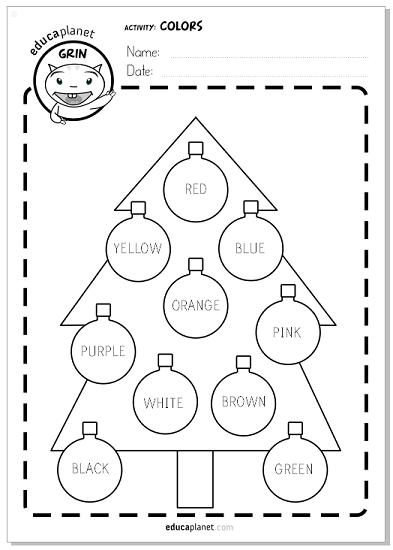 Colores en Navidad - Ficha GRATIS para colorear abeto | mercedes ...