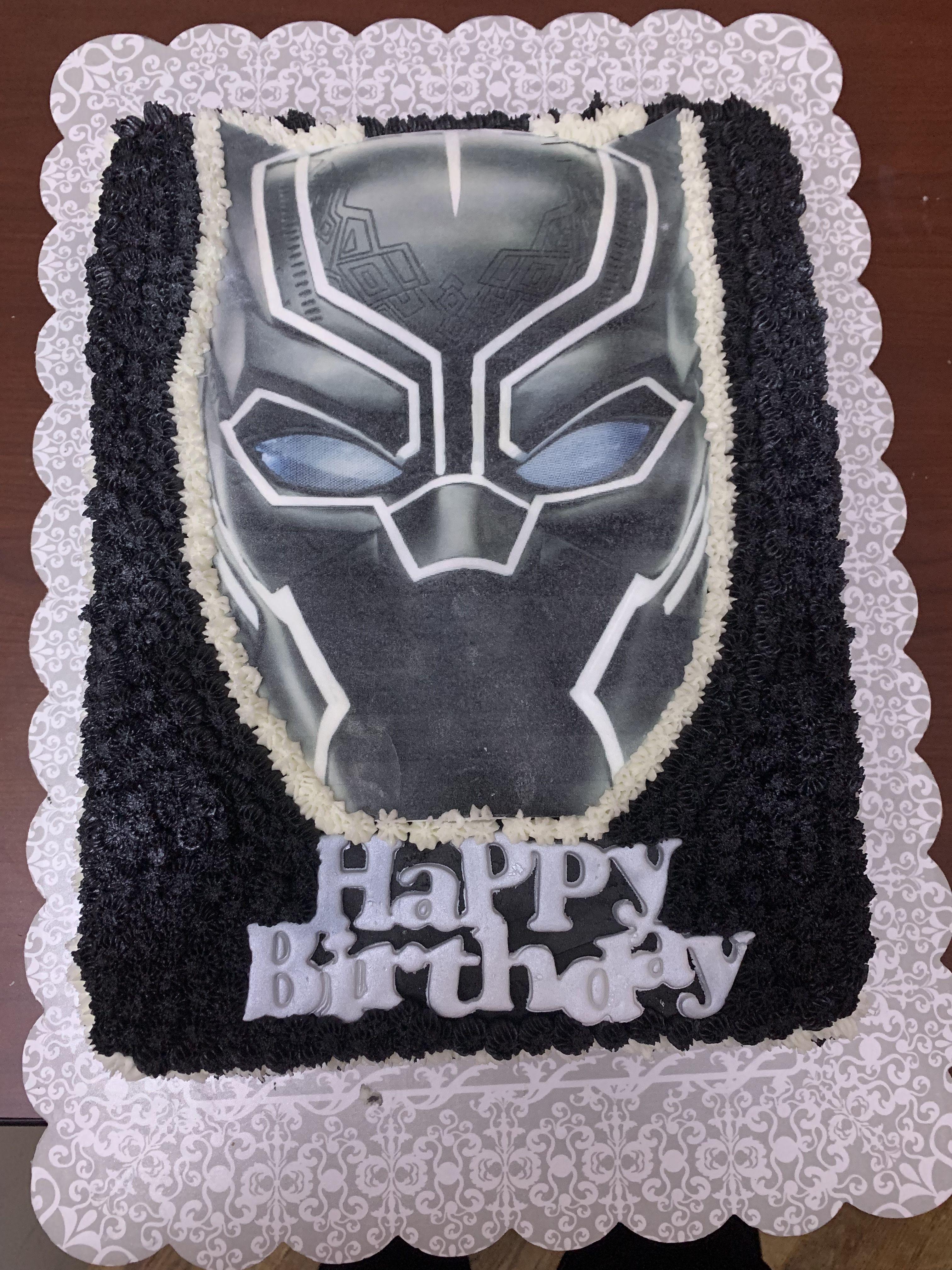 Black Panther Mask Sheet Cake Sheet Cake Black Panther Cake