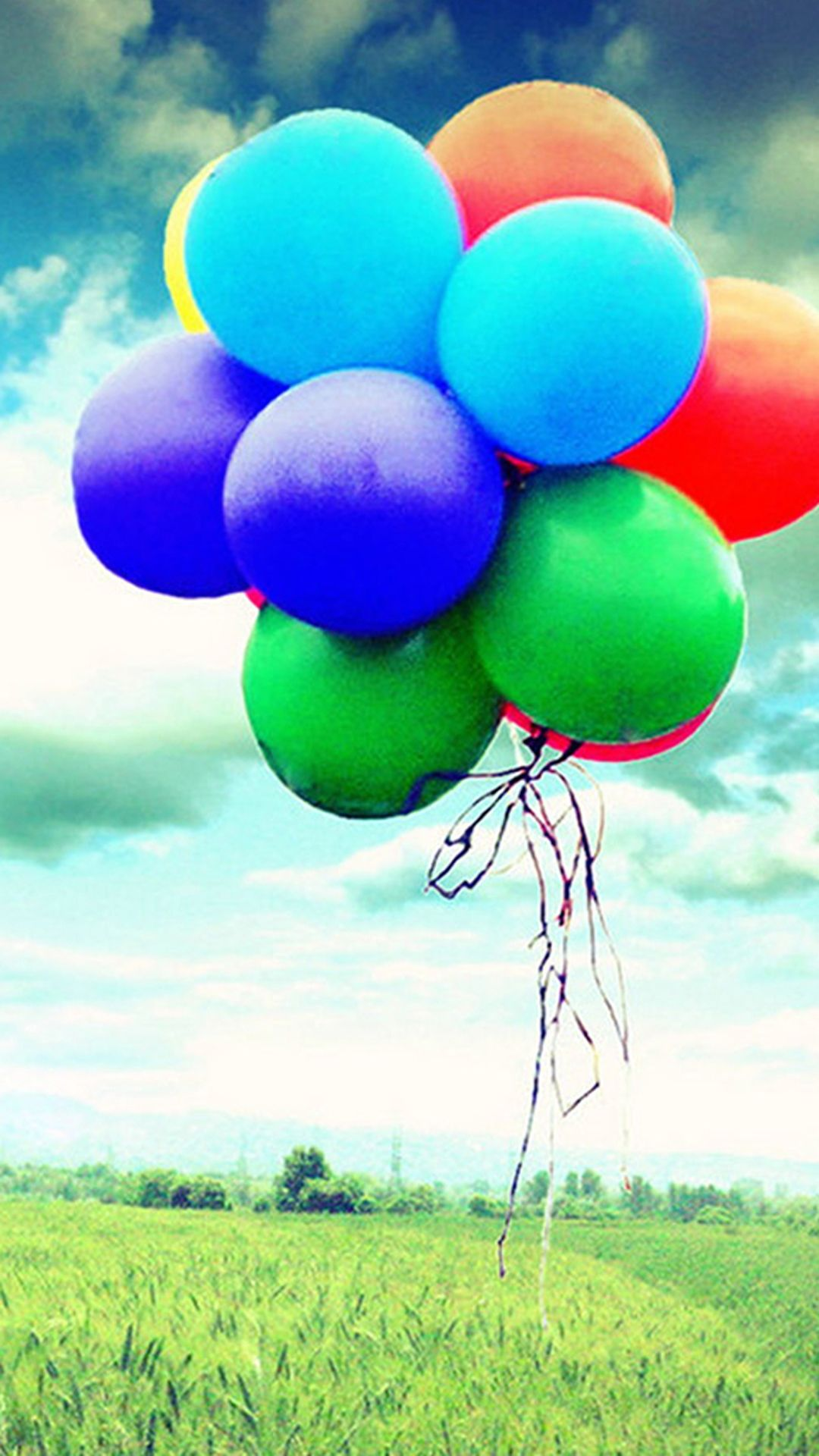 Colorful Flying Balloons Iphone 7 Wallpaper