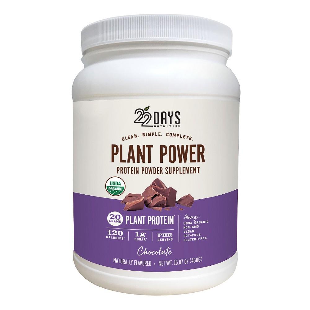 22 days nutrition organic vegan protein powder chocolate