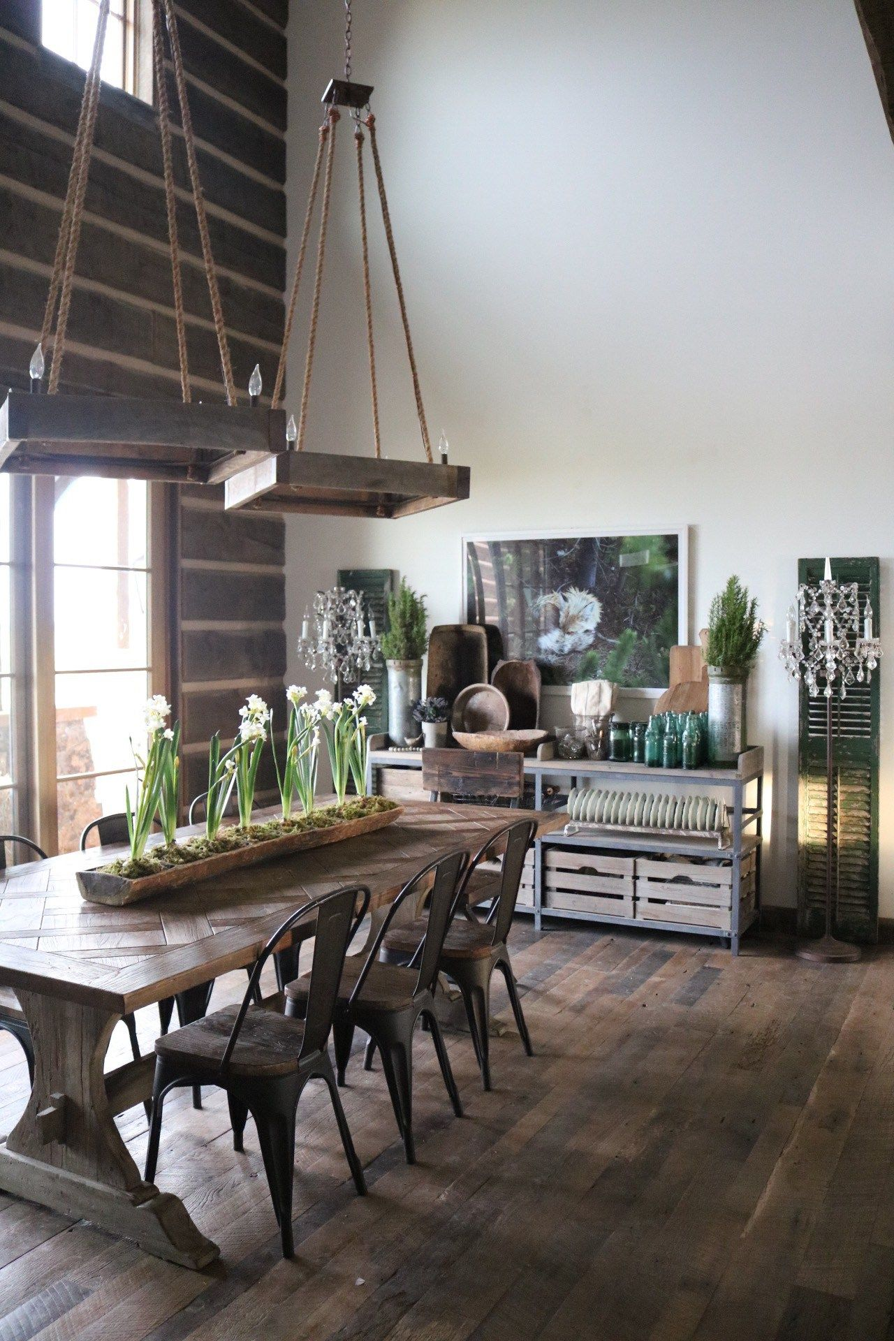 Rustic Farmhouse Dining Room Dining Room Decorating