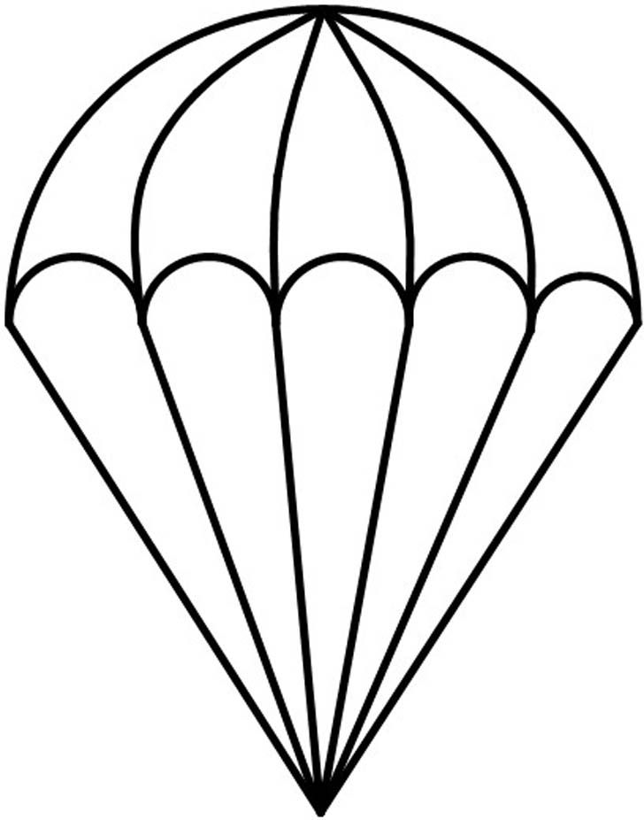 Parachute Coloring Page Template Drawing Stencils Stained Glass