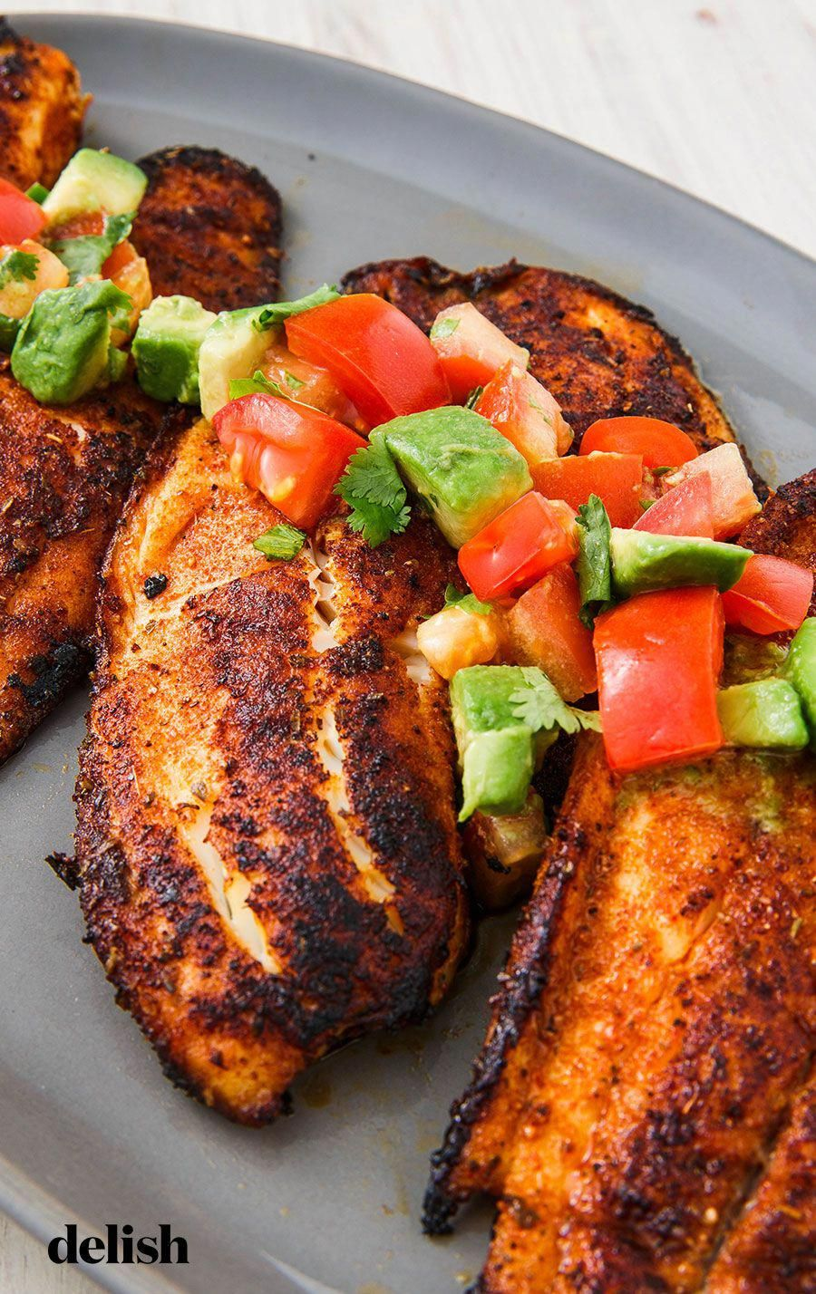 This blackened tilapia recipe will make you look forward to meatless Mondays. Get the recipe from .