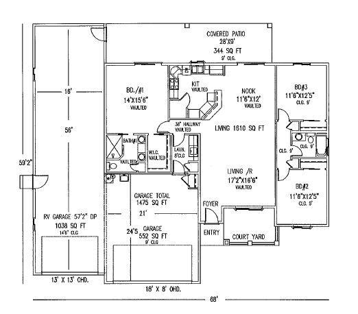 RV garage floor plans - Google Search | rv home | Pinterest | Garage ...